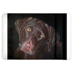 Inquisitive Chocolate Lab Apple Ipad Air 2 Flip Case by LabsandRetrievers