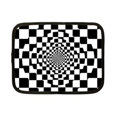 Checkered Flag Race Winner Mosaic Tile Pattern Repeat Netbook Sleeve (Small) by CrypticFragmentsColors