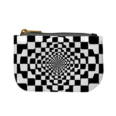Checkered Flag Race Winner Mosaic Tile Pattern Repeat Coin Change Purse