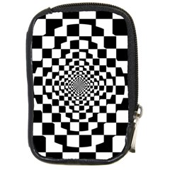 Checkered Flag Race Winner Mosaic Tile Pattern Repeat Compact Camera Leather Case