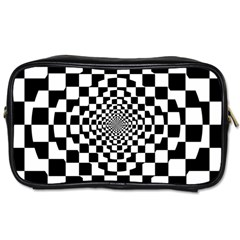 Checkered Flag Race Winner Mosaic Tile Pattern Repeat Travel Toiletry Bag (two Sides) by CrypticFragmentsColors