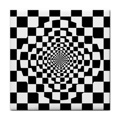 Checkered Flag Race Winner Mosaic Tile Pattern Repeat Ceramic Tile by CrypticFragmentsColors