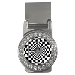 Checkered Flag Race Winner Mosaic Tile Pattern Repeat Money Clip (cz) by CrypticFragmentsColors