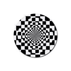 Checkered Flag Race Winner Mosaic Tile Pattern Repeat Drink Coasters 4 Pack (round) by CrypticFragmentsColors