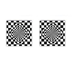 Checkered Flag Race Winner Mosaic Tile Pattern Repeat Cufflinks (square) by CrypticFragmentsColors