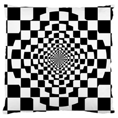 Checkered Flag Race Winner Mosaic Tile Pattern Repeat Large Cushion Case (single Sided)  by CrypticFragmentsColors
