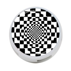 Checkered Flag Race Winner Mosaic Tile Pattern Repeat 4 Port Usb Hub (one Side) by CrypticFragmentsColors