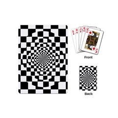 Checkered Flag Race Winner Mosaic Tile Pattern Repeat Playing Cards (mini) by CrypticFragmentsColors