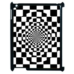Checkered Flag Race Winner Mosaic Tile Pattern Repeat Apple Ipad 2 Case (black) by CrypticFragmentsColors