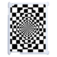 Checkered Flag Race Winner Mosaic Tile Pattern Repeat Apple Ipad 2 Case (white) by CrypticFragmentsColors