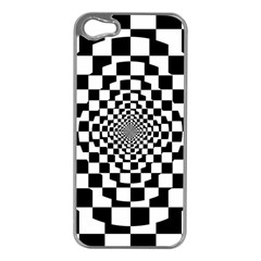 Checkered Flag Race Winner Mosaic Tile Pattern Repeat Apple Iphone 5 Case (silver) by CrypticFragmentsColors