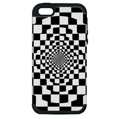 Checkered Flag Race Winner Mosaic Tile Pattern Repeat Apple Iphone 5 Hardshell Case (pc+silicone) by CrypticFragmentsColors