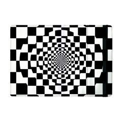 Checkered Flag Race Winner Mosaic Tile Pattern Repeat Apple Ipad Mini Flip Case by CrypticFragmentsColors