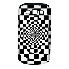 Checkered Flag Race Winner Mosaic Tile Pattern Repeat Samsung Galaxy S Iii Classic Hardshell Case (pc+silicone) by CrypticFragmentsColors