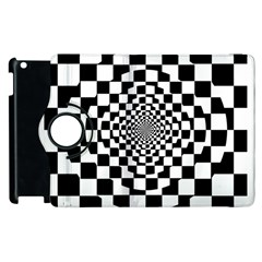 Checkered Flag Race Winner Mosaic Tile Pattern Repeat Apple Ipad 2 Flip 360 Case by CrypticFragmentsColors