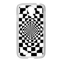 Checkered Flag Race Winner Mosaic Tile Pattern Repeat Samsung Galaxy S4 I9500/ I9505 Case (white) by CrypticFragmentsColors