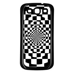 Checkered Flag Race Winner Mosaic Tile Pattern Repeat Samsung Galaxy S3 Back Case (black) by CrypticFragmentsColors