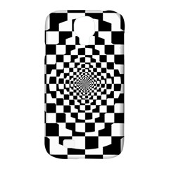 Checkered Flag Race Winner Mosaic Tile Pattern Repeat Samsung Galaxy S4 Classic Hardshell Case (pc+silicone) by CrypticFragmentsColors