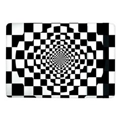 Checkered Flag Race Winner Mosaic Tile Pattern Repeat Samsung Galaxy Tab Pro 10 1  Flip Case