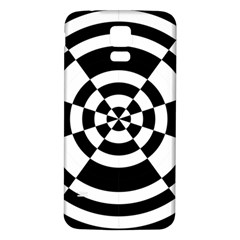 Checkered Flag Race Winner Mosaic Tile Pattern Round Pie Wedge Samsung Galaxy S5 Back Case (White) by CrypticFragmentsColors