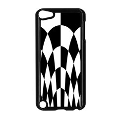 Checkered Flag Race Winner Mosaic Pattern Curves  Apple iPod Touch 5 Case (Black) by CrypticFragmentsColors