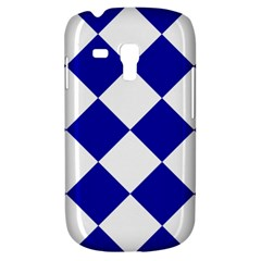 Harlequin Diamond Pattern Cobalt Blue White Samsung Galaxy S3 Mini I8190 Hardshell Case by CrypticFragmentsColors