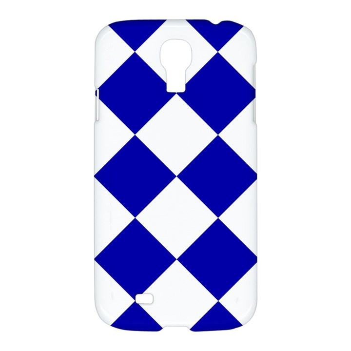 Harlequin Diamond Pattern Cobalt Blue White Samsung Galaxy S4 I9500/I9505 Hardshell Case