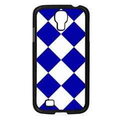Harlequin Diamond Pattern Cobalt Blue White Samsung Galaxy S4 I9500/ I9505 Case (black) by CrypticFragmentsColors