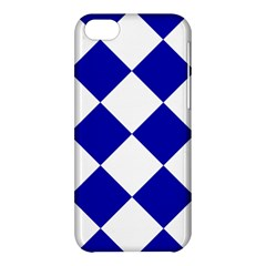 Harlequin Diamond Pattern Cobalt Blue White Apple Iphone 5c Hardshell Case by CrypticFragmentsColors