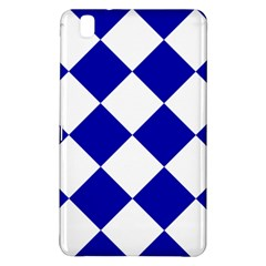 Harlequin Diamond Pattern Cobalt Blue White Samsung Galaxy Tab Pro 8 4 Hardshell Case by CrypticFragmentsColors