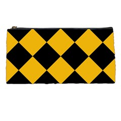 Harlequin Diamond Gold Black Pencil Case by CrypticFragmentsColors