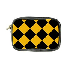 Harlequin Diamond Gold Black Coin Purse by CrypticFragmentsColors