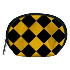 Harlequin Diamond Gold Black Accessory Pouch (medium) by CrypticFragmentsColors