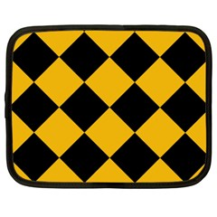 Harlequin Diamond Gold Black Netbook Sleeve (xxl) by CrypticFragmentsColors