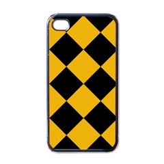 Harlequin Diamond Gold Black Apple Iphone 4 Case (black) by CrypticFragmentsColors