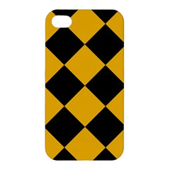 Harlequin Diamond Gold Black Apple Iphone 4/4s Hardshell Case by CrypticFragmentsColors
