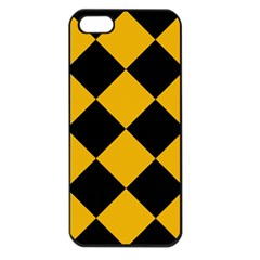 Harlequin Diamond Gold Black Apple Iphone 5 Seamless Case (black) by CrypticFragmentsColors