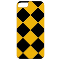 Harlequin Diamond Gold Black Apple Iphone 5 Classic Hardshell Case by CrypticFragmentsColors