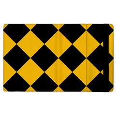 Harlequin Diamond Gold Black Apple Ipad 2 Flip Case by CrypticFragmentsColors