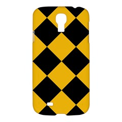 Harlequin Diamond Gold Black Samsung Galaxy S4 I9500/i9505 Hardshell Case by CrypticFragmentsColors