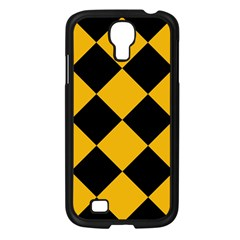 Harlequin Diamond Gold Black Samsung Galaxy S4 I9500/ I9505 Case (black) by CrypticFragmentsColors