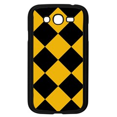 Harlequin Diamond Gold Black Samsung Galaxy Grand Duos I9082 Case (black) by CrypticFragmentsColors