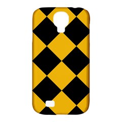 Harlequin Diamond Gold Black Samsung Galaxy S4 Classic Hardshell Case (pc+silicone) by CrypticFragmentsColors