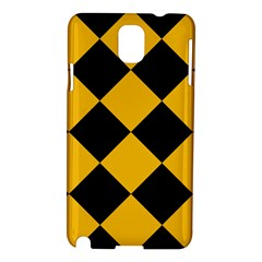 Harlequin Diamond Gold Black Samsung Galaxy Note 3 N9005 Hardshell Case by CrypticFragmentsColors