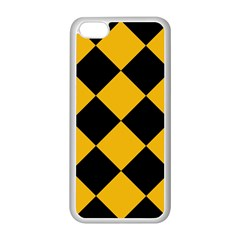 Harlequin Diamond Gold Black Apple Iphone 5c Seamless Case (white) by CrypticFragmentsColors