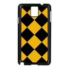 Harlequin Diamond Gold Black Samsung Galaxy Note 3 N9005 Case (black) by CrypticFragmentsColors