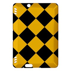 Harlequin Diamond Gold Black Kindle Fire Hdx Hardshell Case by CrypticFragmentsColors