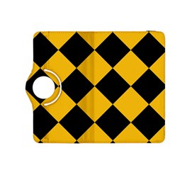 Harlequin Diamond Gold Black Kindle Fire Hdx 8 9  Flip 360 Case by CrypticFragmentsColors