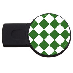 Harlequin Diamond Green White 4gb Usb Flash Drive (round)