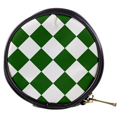 Harlequin Diamond Green White Mini Makeup Case